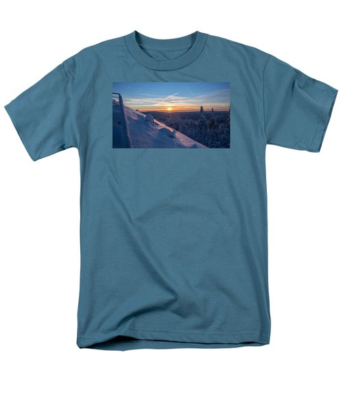 an evening on the Achtermann, Harz Men's T-Shirt  (Regular Fit) by Andreas Levi