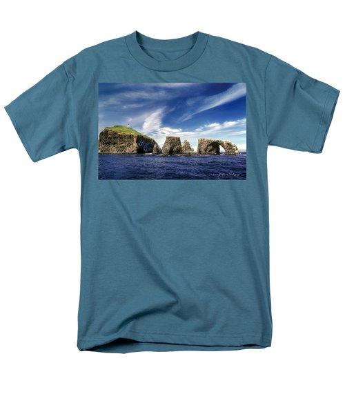 Channel Islands National Park - Anacapa Island Men's T-Shirt  (Regular Fit) by John A Rodriguez