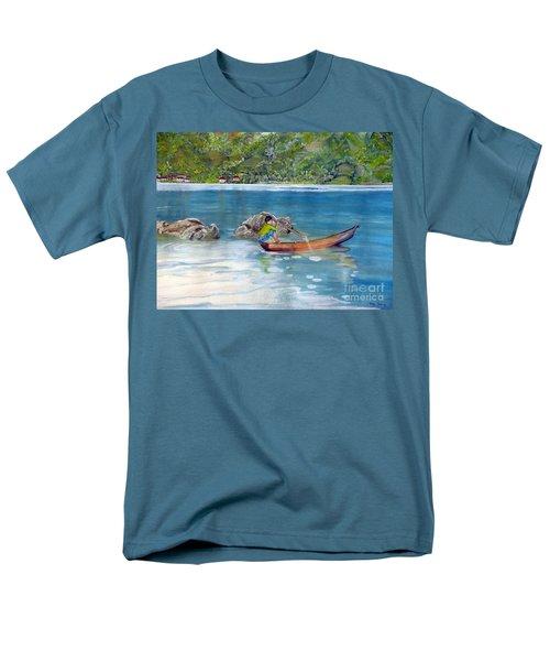 Men's T-Shirt  (Regular Fit) featuring the painting Anak Dan Perahu by Melly Terpening
