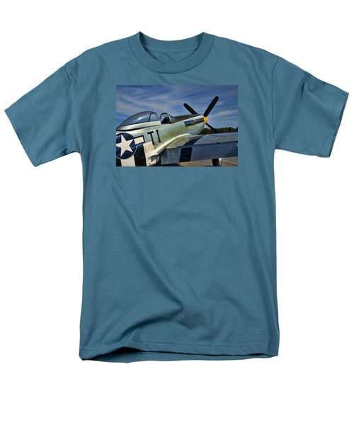 Angels Playmate P-51 Men's T-Shirt  (Regular Fit) by Steven Richardson
