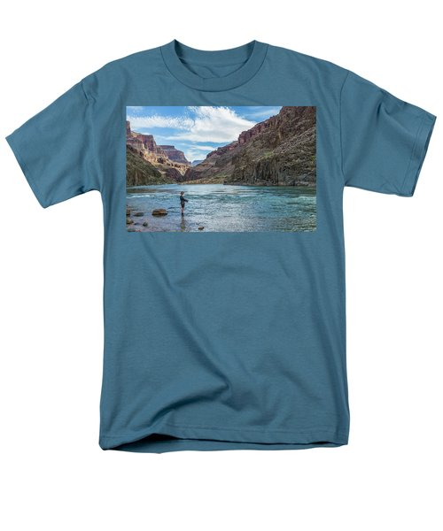 Men's T-Shirt  (Regular Fit) featuring the photograph Angling On The Colorado by Alan Toepfer