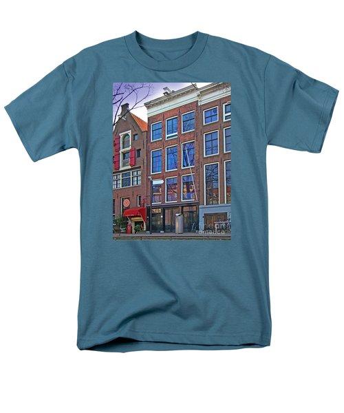 Anne Frank Home In Amsterdam Men's T-Shirt  (Regular Fit) by Al Bourassa