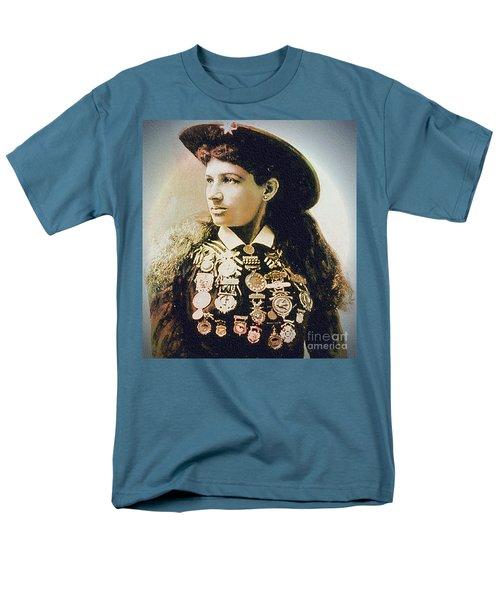 Annie Oakley - Shooting Legend Men's T-Shirt  (Regular Fit) by Ian Gledhill
