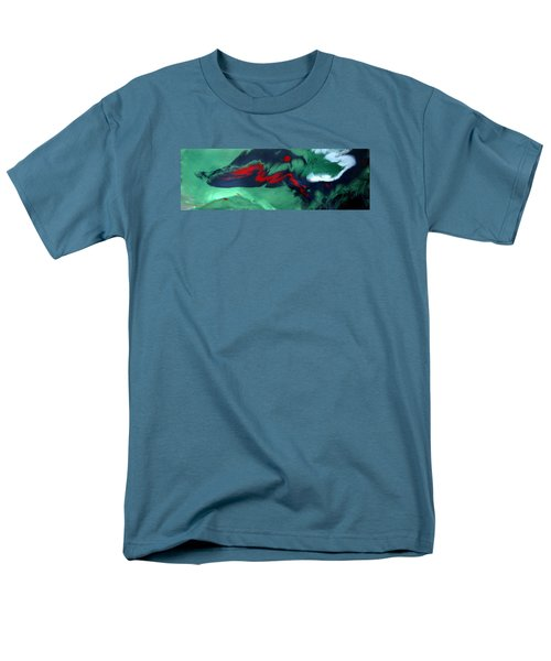Men's T-Shirt  (Regular Fit) featuring the painting Another Time, Another Place by Mary Kay Holladay