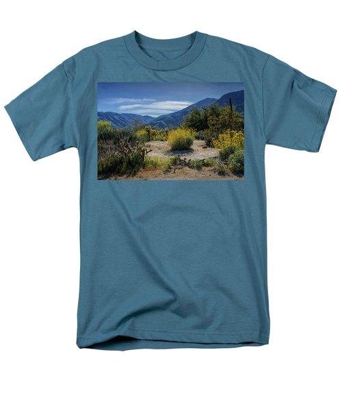 Men's T-Shirt  (Regular Fit) featuring the photograph Anza-borrego Desert State Park Desert Flowers by Randall Nyhof