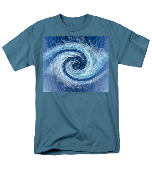 Aqua Swirl Men's T-Shirt  (Regular Fit) by Keith Armstrong