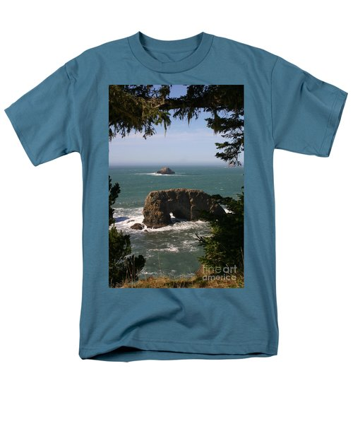 Arch Rock View Men's T-Shirt  (Regular Fit) by Marie Neder