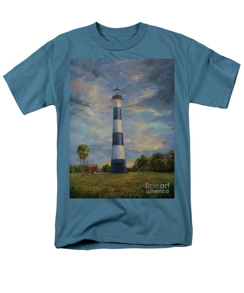 Men's T-Shirt  (Regular Fit) featuring the painting Armadillo And Lighthouse by AnnaJo Vahle