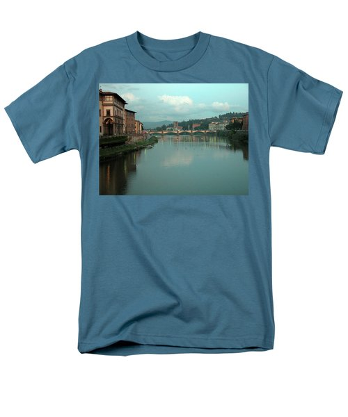 Men's T-Shirt  (Regular Fit) featuring the photograph Arno River, Florence, Italy by Mark Czerniec