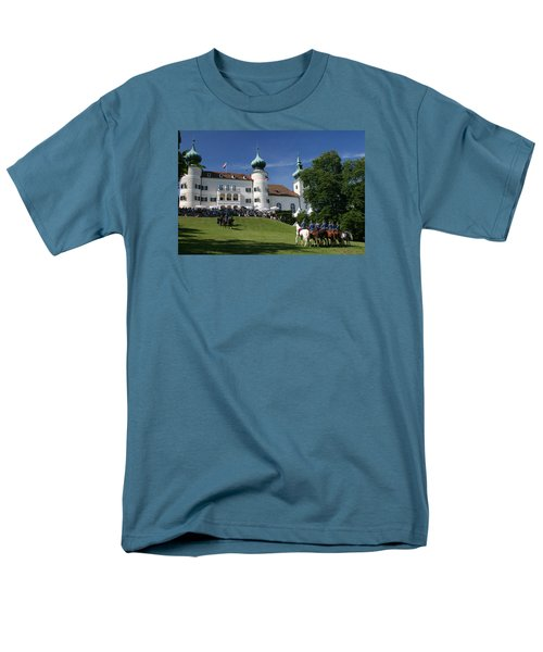 Men's T-Shirt  (Regular Fit) featuring the photograph Artstetten Castle In June by Travel Pics