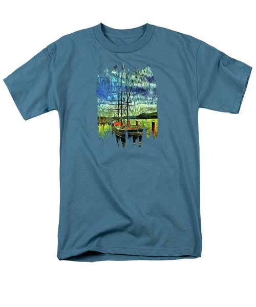 Men's T-Shirt  (Regular Fit) featuring the photograph Cape Foulweather Tall Ship by Thom Zehrfeld