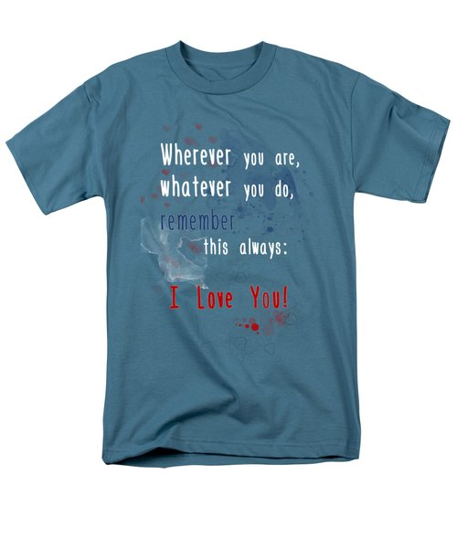 Men's T-Shirt  (Regular Fit) featuring the digital art Wherever You Are by Jutta Maria Pusl
