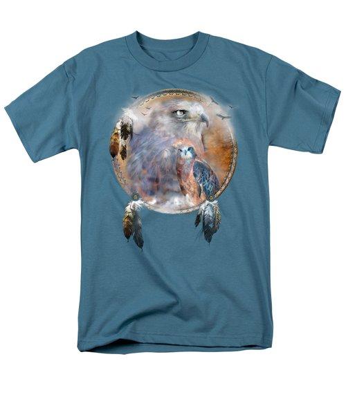 Dream Catcher - Hawk Spirit Men's T-Shirt  (Regular Fit) by Carol Cavalaris