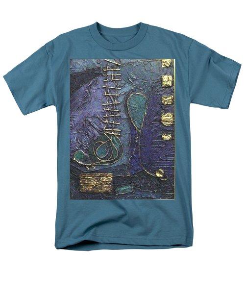 Ascending Blue Men's T-Shirt  (Regular Fit) by Bernard Goodman