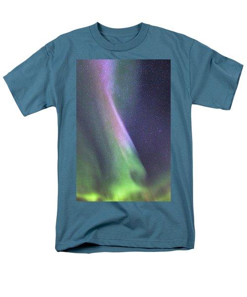 Men's T-Shirt  (Regular Fit) featuring the photograph Aurora Abstract by Hitendra SINKAR