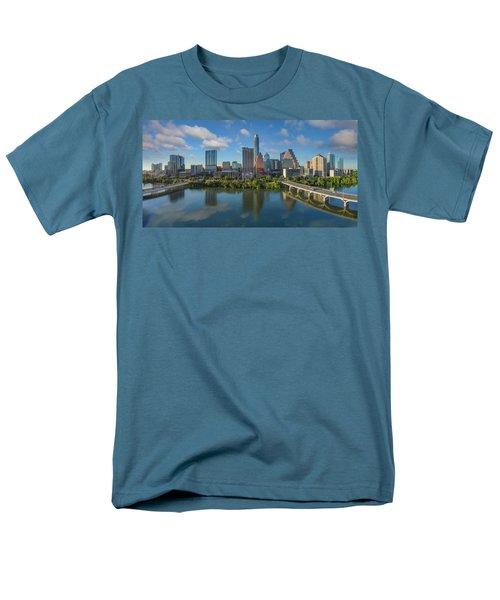 Austin Skyline Panorama Spring Afternoon 7-1 Men's T-Shirt  (Regular Fit) by Rob Greebon