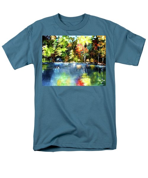 Autumn In Loon Country Men's T-Shirt  (Regular Fit) by Al Brown