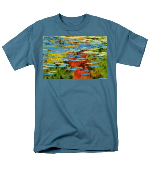 Men's T-Shirt  (Regular Fit) featuring the photograph Autumn Lily Pads by Diana Angstadt