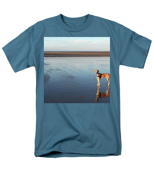 Ava's Last Walk On Brancaster Beach Men's T-Shirt  (Regular Fit) by John Edwards