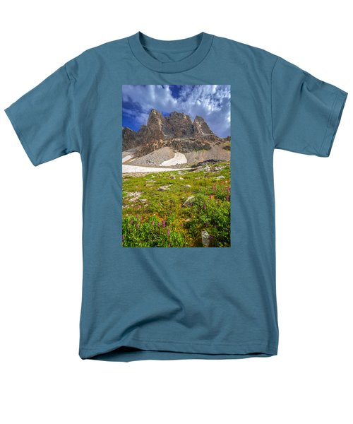 Men's T-Shirt  (Regular Fit) featuring the photograph Awe Inspring Grand Teton Landscape by Serge Skiba