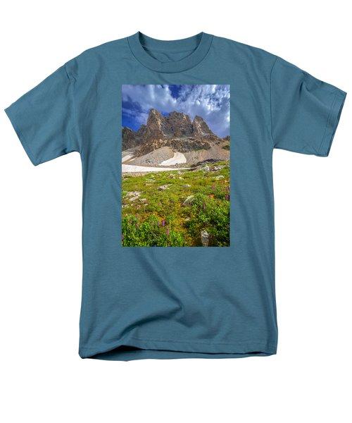 Awe Inspring Grand Teton Landscape Men's T-Shirt  (Regular Fit) by Serge Skiba