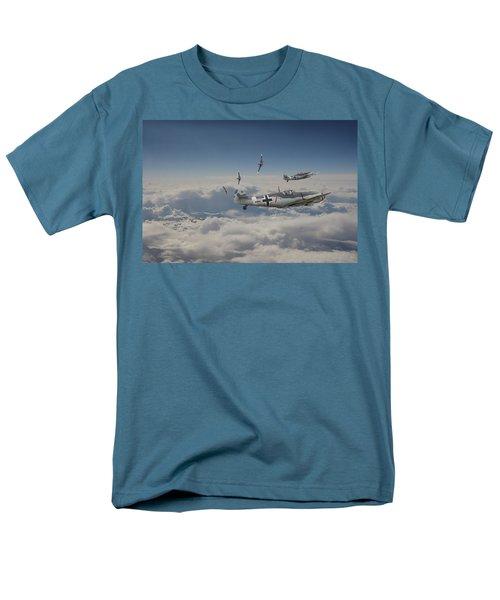 Men's T-Shirt  (Regular Fit) featuring the digital art B17 - Luftwaffe Battleground by Pat Speirs