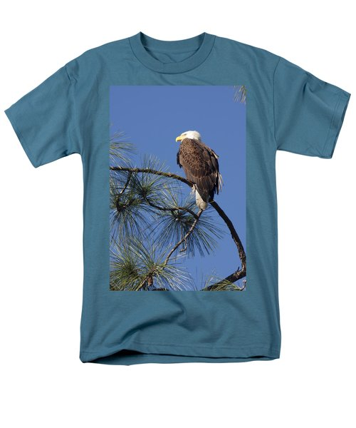Bald Eagle Men's T-Shirt  (Regular Fit) by Sally Weigand
