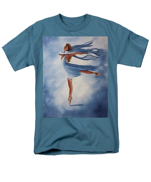 Men's T-Shirt  (Regular Fit) featuring the painting Ballerina by Edwin Alverio