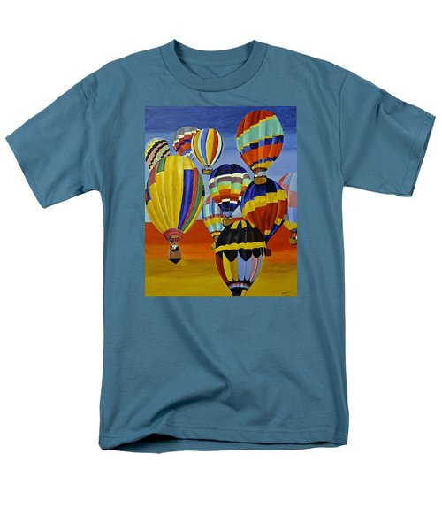 Balloon Expedition Men's T-Shirt  (Regular Fit) by Donna Blossom