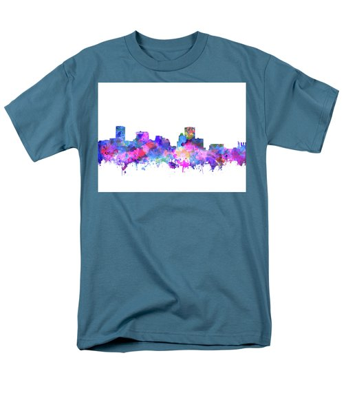 Men's T-Shirt  (Regular Fit) featuring the painting Baltimore Skyline Watercolor 4 by Bekim Art