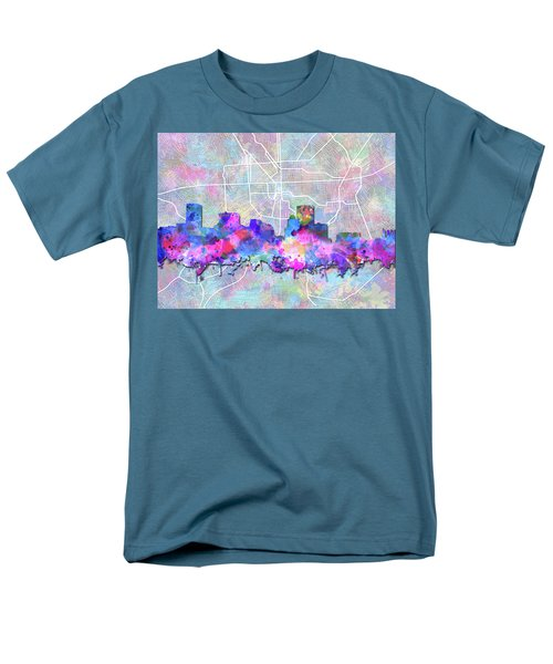 Men's T-Shirt  (Regular Fit) featuring the painting Baltimore Skyline Watercolor 6 by Bekim Art