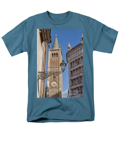 Baptistery And Cathedral In Parma Men's T-Shirt  (Regular Fit) by Patricia Hofmeester