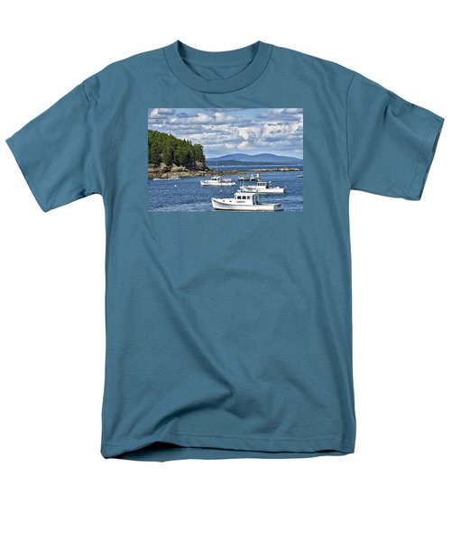 Bar Harbor Lobster Boats - Frenchman Bay Men's T-Shirt  (Regular Fit) by Brendan Reals