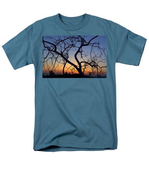 Men's T-Shirt  (Regular Fit) featuring the photograph Barren Tree At Sunset by Lori Seaman