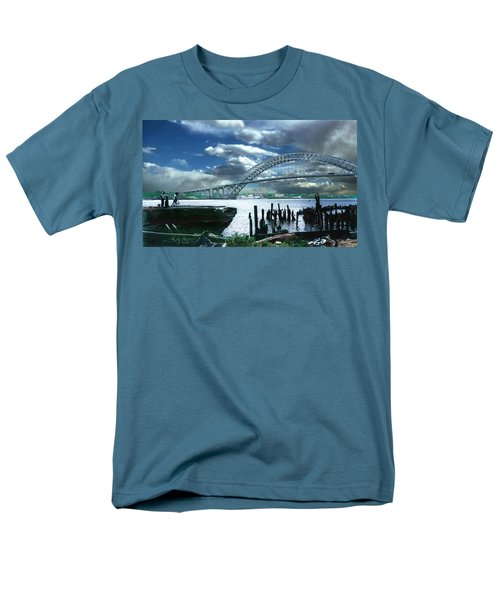 Bayonne Bridge Men's T-Shirt  (Regular Fit) by Steve Karol