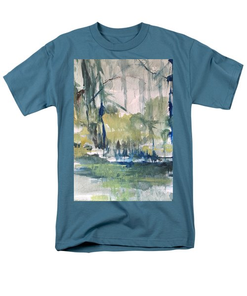 Bayou Blues Abstract Men's T-Shirt  (Regular Fit) by Robin Miller-Bookhout