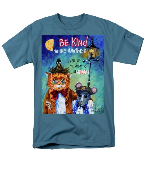 Men's T-Shirt  (Regular Fit) featuring the painting Be Kind by Igor Postash