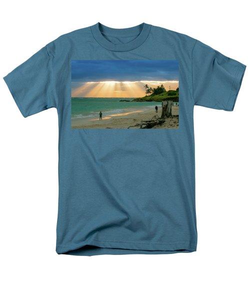 Beach Walk At Sunrise Men's T-Shirt  (Regular Fit) by E Faithe Lester