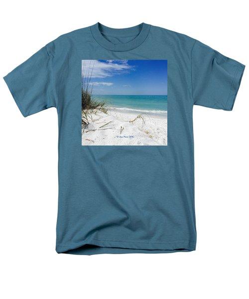 Bean Point, Anna Maria Island Men's T-Shirt  (Regular Fit) by Jean Marie Maggi