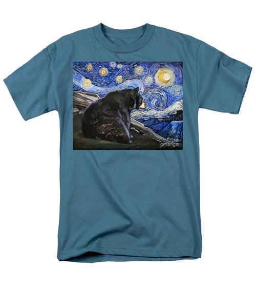 Beary Starry Nights Men's T-Shirt  (Regular Fit) by J W Baker