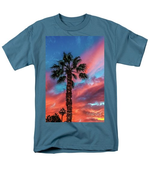 Beautiful Palm Tree Men's T-Shirt  (Regular Fit) by Robert Bales