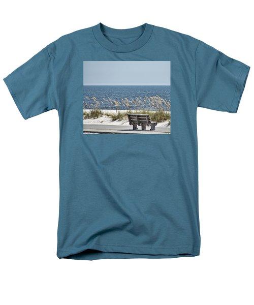 Bench At The Beach Men's T-Shirt  (Regular Fit) by Cathy Jourdan