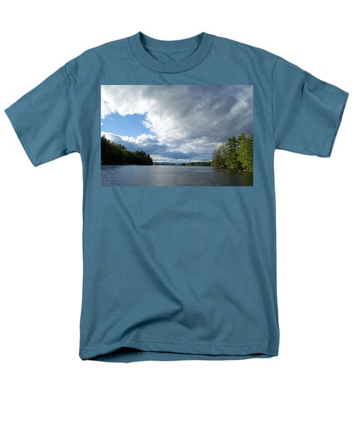 Men's T-Shirt  (Regular Fit) featuring the photograph Big Brooding Sky by Lynda Lehmann