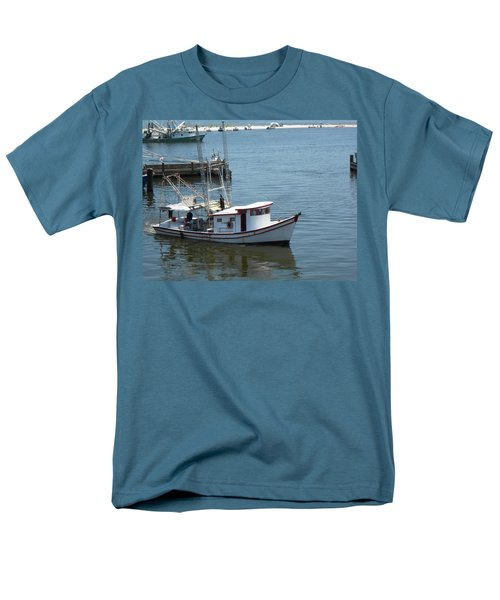 Bilouxi Shrimp Boat Men's T-Shirt  (Regular Fit) by Cynthia Powell