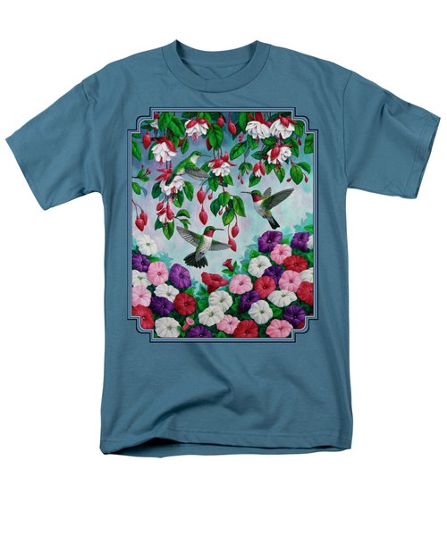 Bird Painting - Hummingbird Heaven Men's T-Shirt  (Regular Fit) by Crista Forest