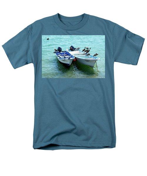 Birds Sunbathing  Men's T-Shirt  (Regular Fit) by Haleh Mahbod