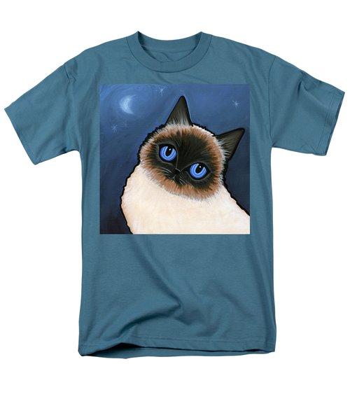 Birman Blue Night Men's T-Shirt  (Regular Fit) by Leanne Wilkes
