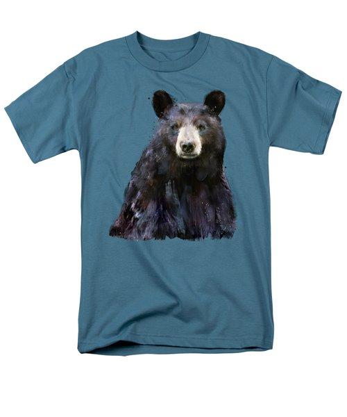 Black Bear Men's T-Shirt  (Regular Fit) by Amy Hamilton