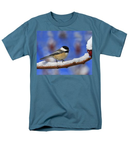 Black-capped Chickadee In Sumac Men's T-Shirt  (Regular Fit) by Tony Beck