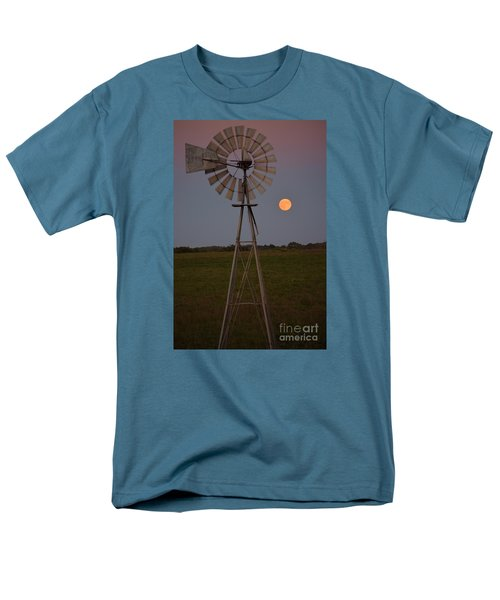 Blood Moon And Windmill Men's T-Shirt  (Regular Fit) by Mark McReynolds